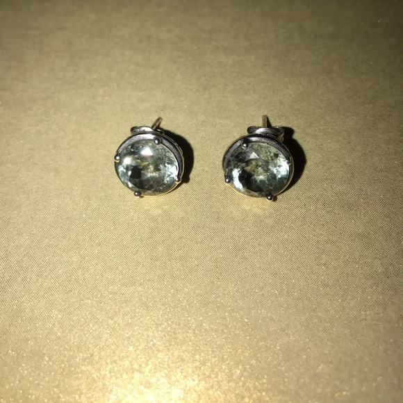 fe039aeb88d Macy's Green Amethyst Earrings in 14k White Gold