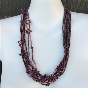 Jewelry - Handmade beaded vintage necklace hippy jewelry