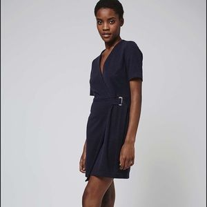 Topshop belted wrap mini dress