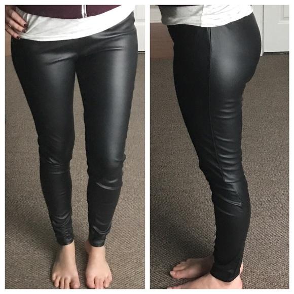 7a39dfdee0555b LC Lauren Conrad Pants - LC Lauren Conrad Faux Leather Black Leggings
