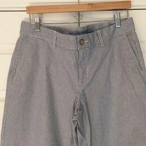 GAP Pants - GAP Railroad Stripe Girlfriend Khakis