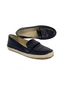 Rag & Bone- Black Leather Espadrille Loafers Sz 7
