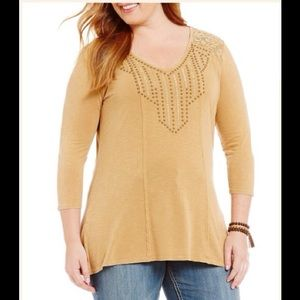"Reba Tops - Reba ""Vintage Blues"" collection knit top"