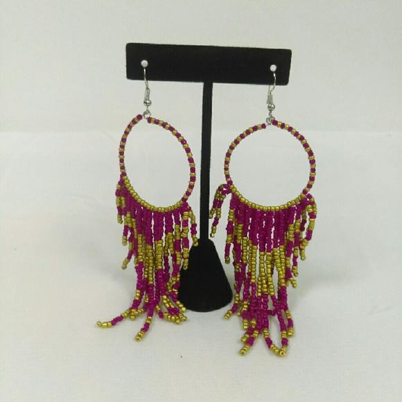 Deja Vous Jewelry - NWT Fuchsia Gypsy Earring