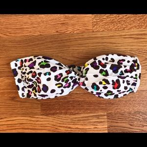Victoria's Secret Leopard Print Bandeau Bikini Top