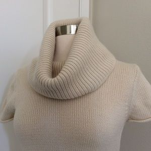 BCBGMaxAzria Sweaters - BCBG MaxAzria Wool-Blend Cream Cowlneck Sweater