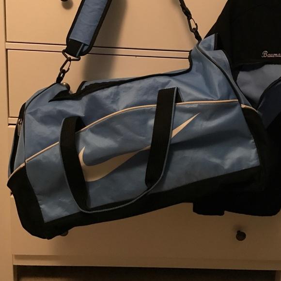Nike Bags   Light Blue Large Duffle Bag   Poshmark 1a2a1c52b5