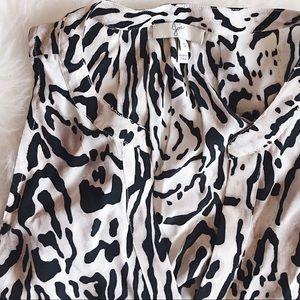 Joie Animal Print Silk Top