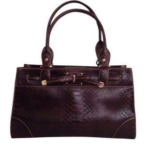Liz Claiborne Handbags - [Liz Claiborne] Montclair Chestnut Faux Python Bag