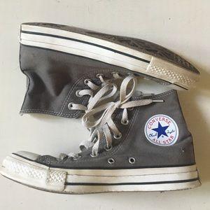 Converse Shoes - Converse high top Gray woman's 5.