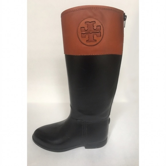 ef46ea4ea1fb Tory Burch Winnie Rubber Riding Rain Boots sz 9. M 5866e3826d64bcc70a01e571