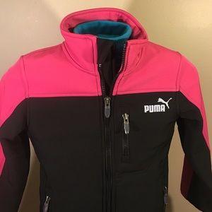 b50dd51255cc Puma Other - PUMA Girls size 5 sport jacket pink black EUC