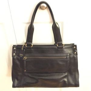 FOSSIL Black Leather Shoulder Bag