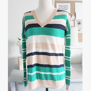 Madewell Striped Melon Sweater