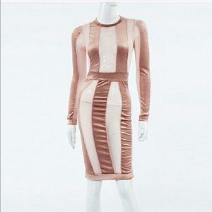 Auditions Dresses & Skirts - ✨The Sexy Velvet Striped Mesh Dress
