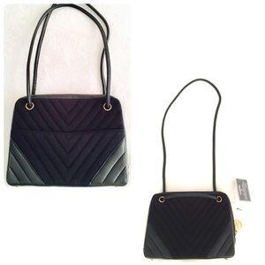 CHANEL Handbags - Authentic Vintage Chanel Black V-Quilted Bag