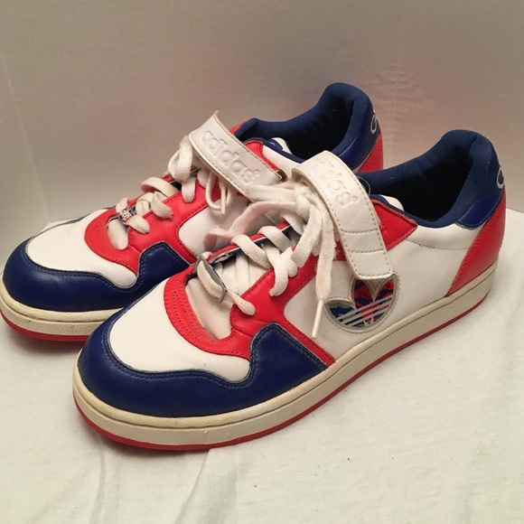 price reduced buying new hot products Adidas Missy Elliot Trefoil Red White Blue Shoes