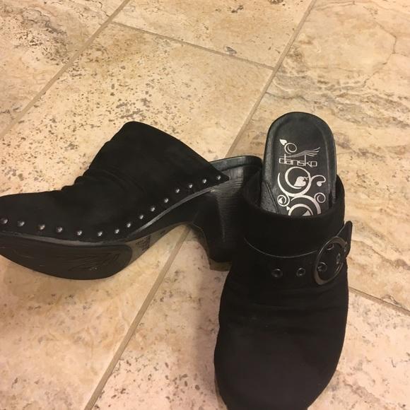 Dansko Shoes | Dansko Black Suede Clogs
