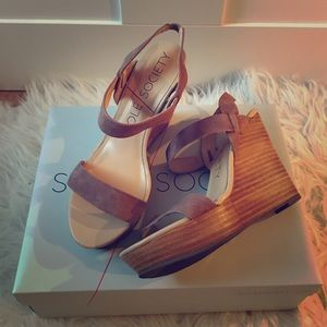 Sole Society Shoes - Sole Society - Penelope - Strap Wedges