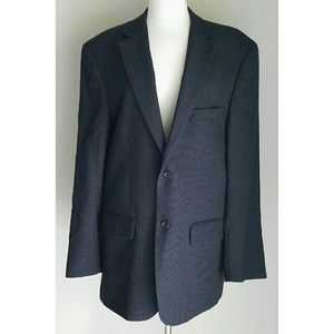 Pronto Uomo Other - Pronto Uomo Blue & Gray Check Suit Jacket/Blazer