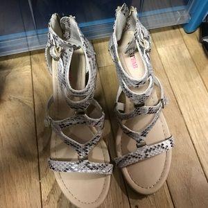 Shoes - Snake skin like wedges