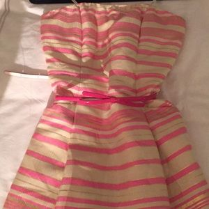 Lilly Pulitzer pink bow belt