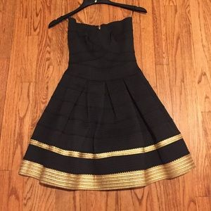 Black and Gold Alythea Dress