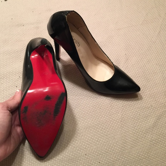 new concept bab27 6e51c Classic red bottom black patent leather heels