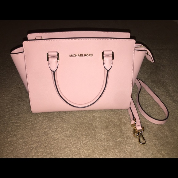 839c977c9554 Selma Saffiano Leather Medium Satchel PALE PINK.  M_5867014c2599fee78802517f. Other Bags you may like. AUTHENIC NWT MK Michael  Kors ...