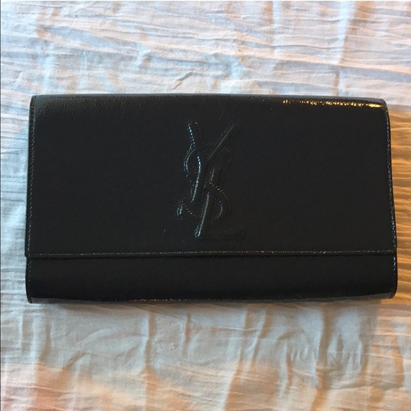 7c11dd3f89 YSL Sac Sac De Jour Patent Leather Clutch. M 586701c5eaf030048a04b5b9.  Other Bags you may like. Saint Laurent ...