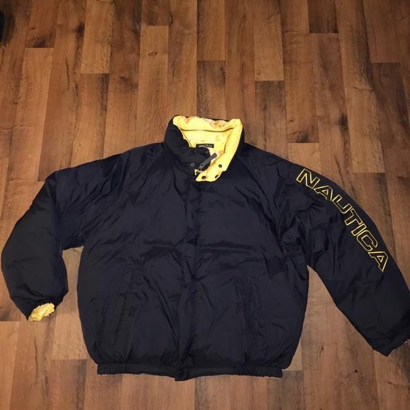 Nautica Jackets Coats Vintage Xl Reversible Puffer Jacket Poshmark
