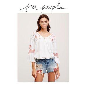 Free People Tops - Free People Peasant Top Sz S
