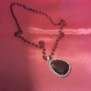 Garnet and sterling necklace