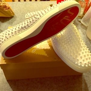 Christian Louboutin Other - Roller -boat flat calf//GG/spikes