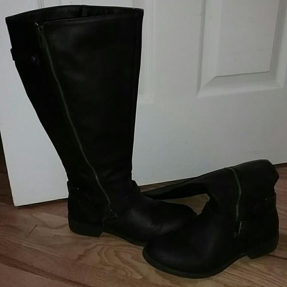 34671327dd1 Brash Shoes -  WIDE CALF  Black Boots 🌻