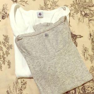Petit Bateau Tops - 2 Petit Bateau long sleeve tees 100% Cotton 🇫🇷XS