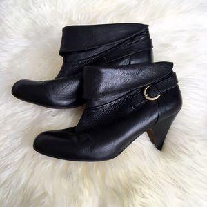Aldo Shoes - Aldo Black Leather Foldover Booties
