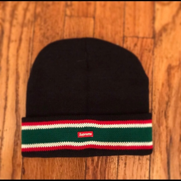 Supreme Other - Supreme BOX LOGO Striped Cuff Beanie FW 16 10b4b207f23