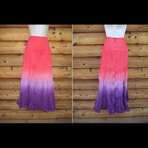 Karen Kane Dresses & Skirts - Karen Kane Crinkled Cotton Maxi Boho Skirt