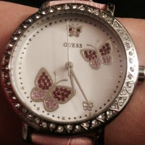 Pink Butterfly GUESS Watch
