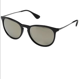 Ray ban brown/black mirrored Erika sunnies