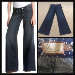 Paige Hillside Wide Leg Jeans