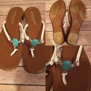 A. Giannetti Shoes - A. Giannetti Sandals Size 9.5