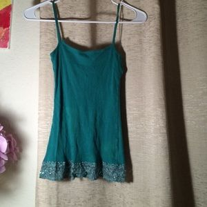 Uncommon Tops - BOGO PRETTY GREEN SQUARE NECK SPAGHETTI STRAP TOP