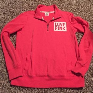 Pink vs half zip