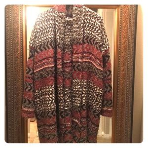 Gorgeous hand-knitted cotton/alpaca open cardigan