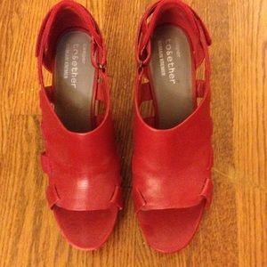 Camper Shoes - Camper Red Leather Sandals