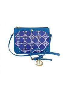 Henri Bendel- Blue & White Monogram Crossbody Bag