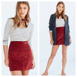 Urban Outfitters BDG Everest Corduroy Mini Skirt