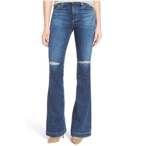 AG Adriano Goldschmied Denim - AG Janis Destroyed Distressed High Rise Denim